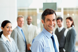 Image of happy career business people