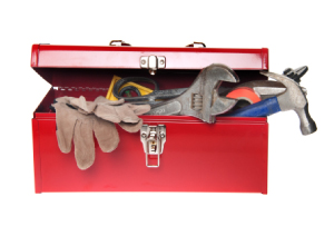 Photo of a toolbox filled with (metaphorical) transferable skills