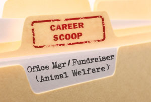 Career Scoop: Office Manager / Fundraiser (Animal Welfare)
