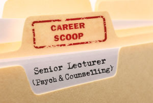 Career Scoop file, on what it's like to work as a Senior Lecturer